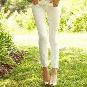 🆕 Lilly Pulitzer Worth Skinny Jeans Cameo White